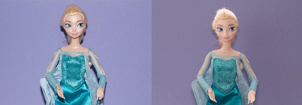 Prueba Elsa con flash integrado directo y uso de difusor casero