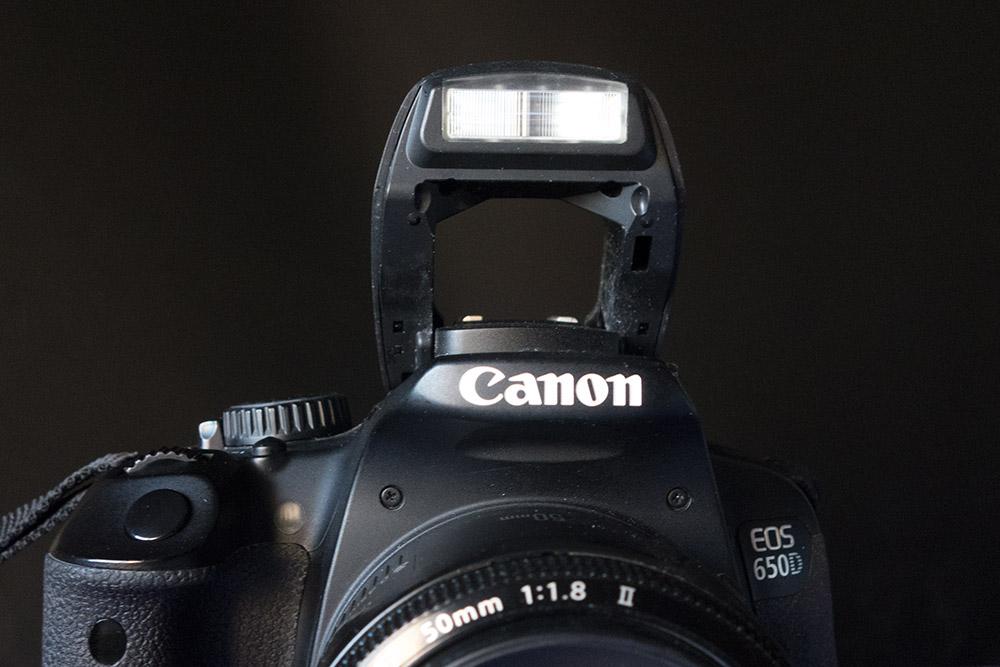 Flash integrado cámara de fotos