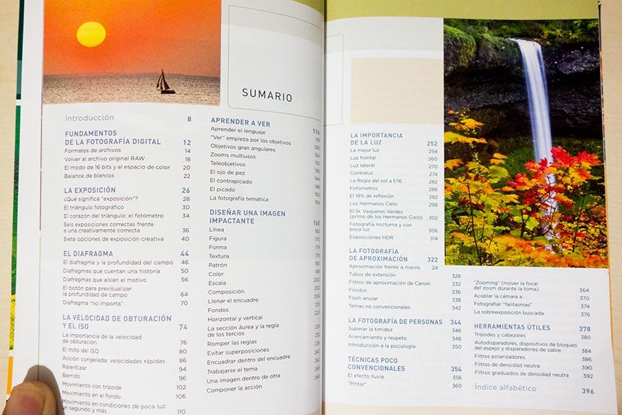 Los secretos de la fotografía. Guía de campo. Bryan Peterson. Índice.