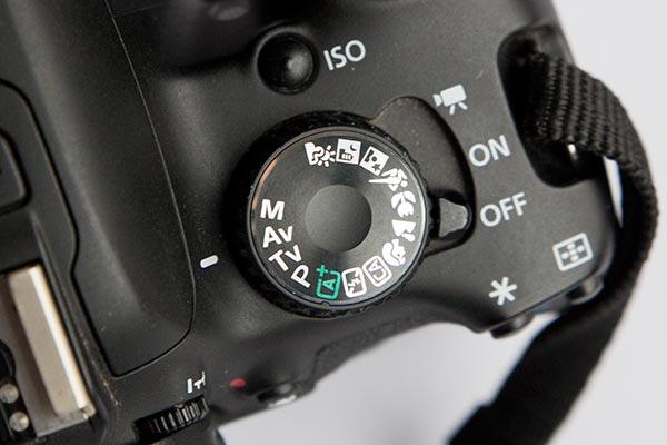 Dial de modos de disparo cámara réflex Canon