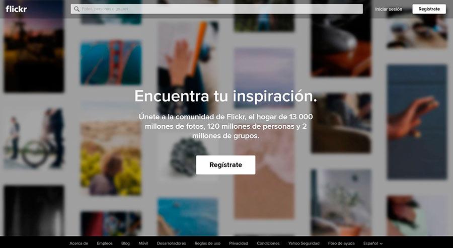 Plataforma inspiracion fotografia: Flickr