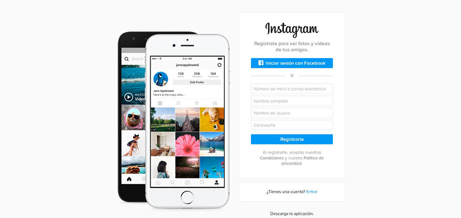 Plataforma inspiracion fotografia: Instagram
