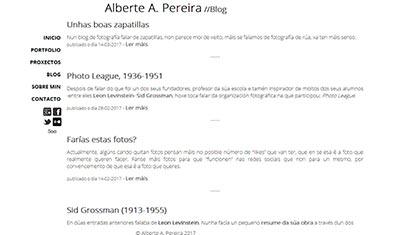 Portada Blog de Alberte Pereira