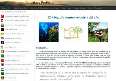 Portada Blog El paisaje perfecto