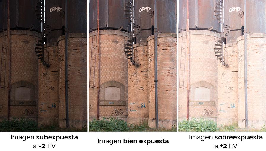 Fotografias capturadas con distinta exposición