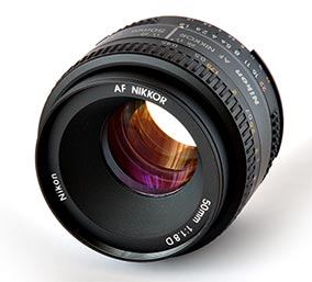 Objetivo fijo 50mm Nikkor f/1.8