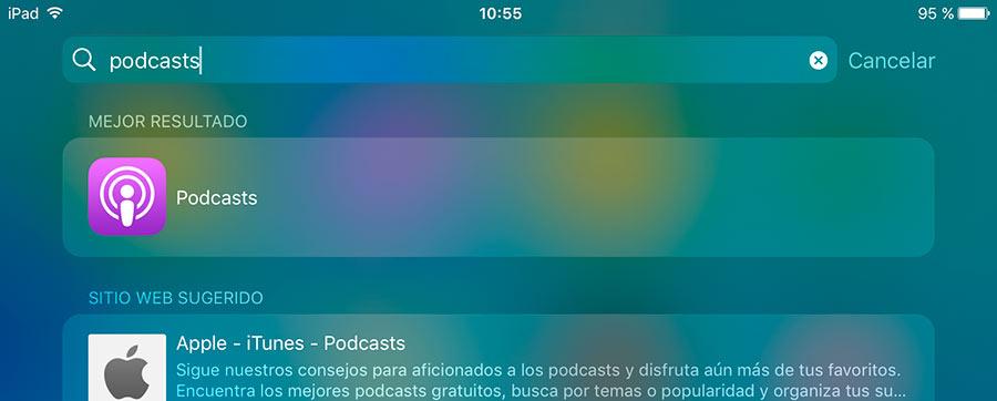 Dejar reseña en iphone e ipad, Podcasts, buscar app