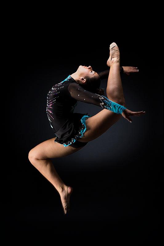 Fotografía danza rítmica, salto