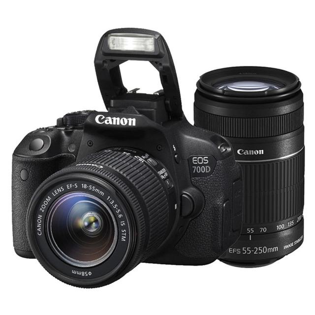 Cámara réflex Canon y objetivos