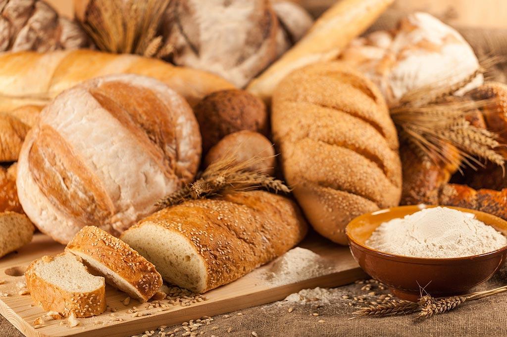 fotografía de pan tono cálido