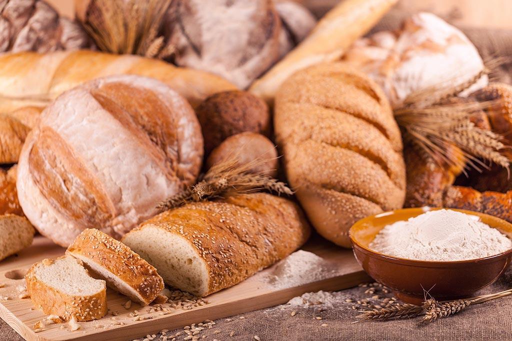 fotografía de pan tono más frío