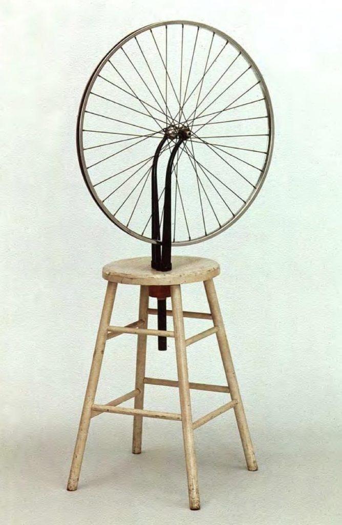 Marcel Duchamp, ready made, rueda bicicleta