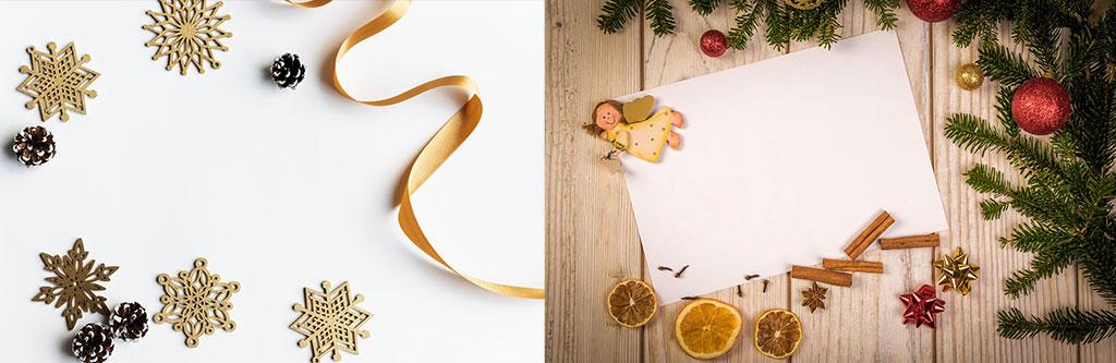 Fotografía de Navidad, ejemplo de bodegón, bodegones cenitales