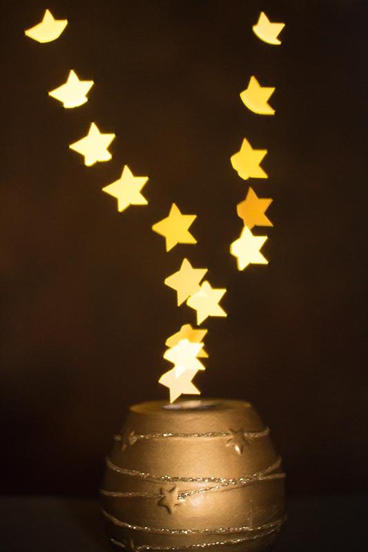 Fotografía bokeh forma estrella