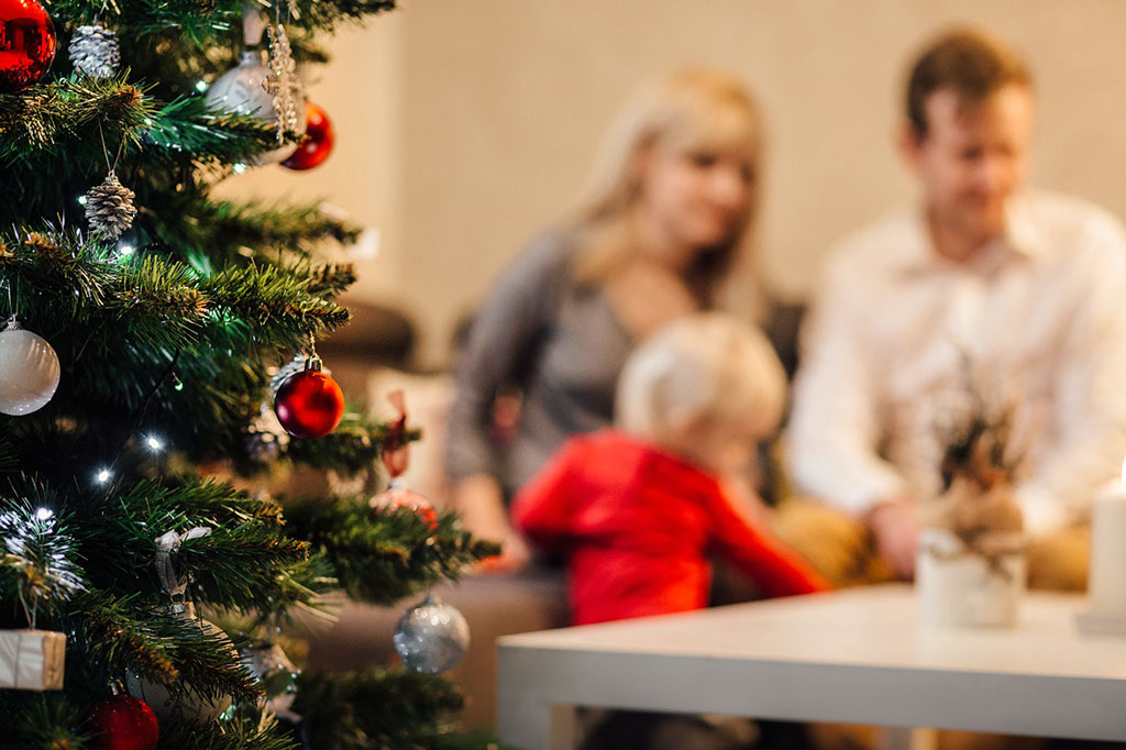 Fotografía de Navidad en familia