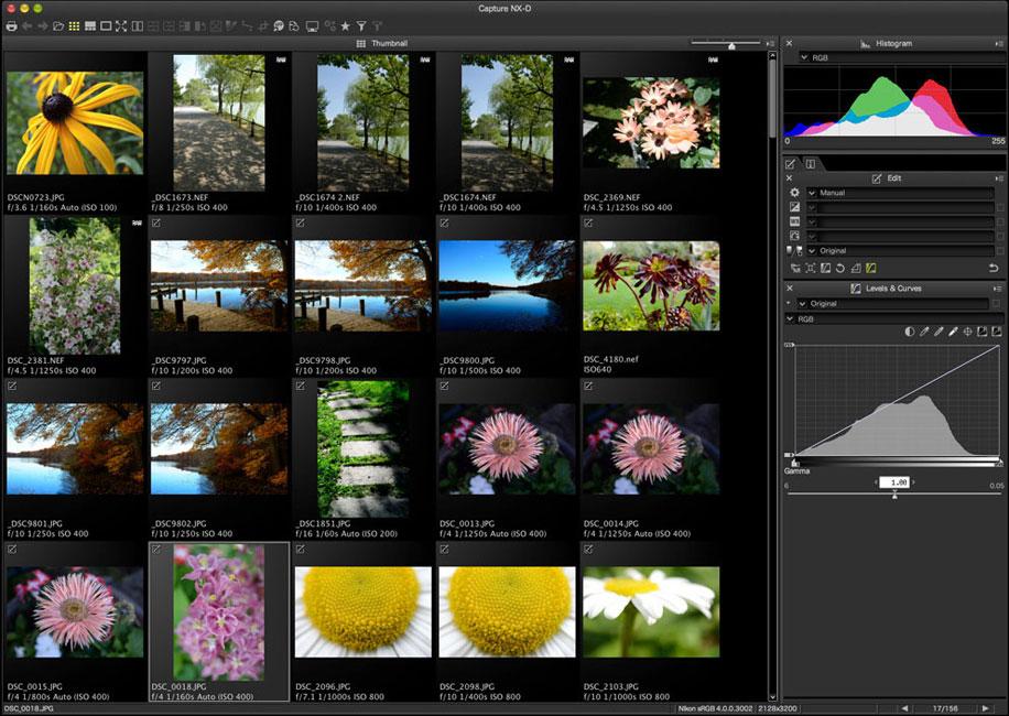 Programa de revelado Nikon Capture NX