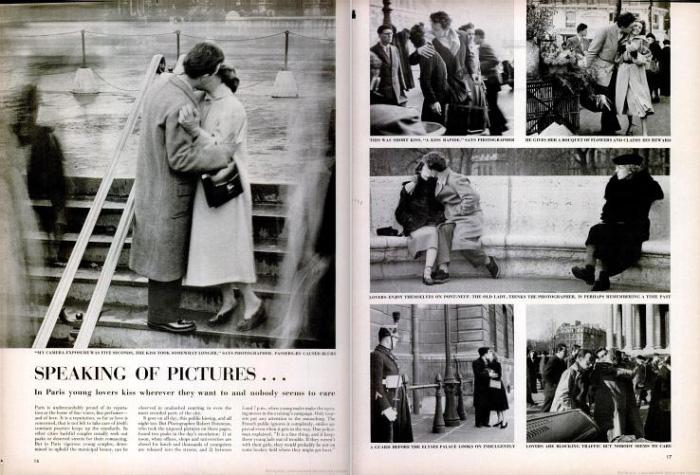 Artículo de la revista Life Magazine con las fotografías de Robert Doisneau