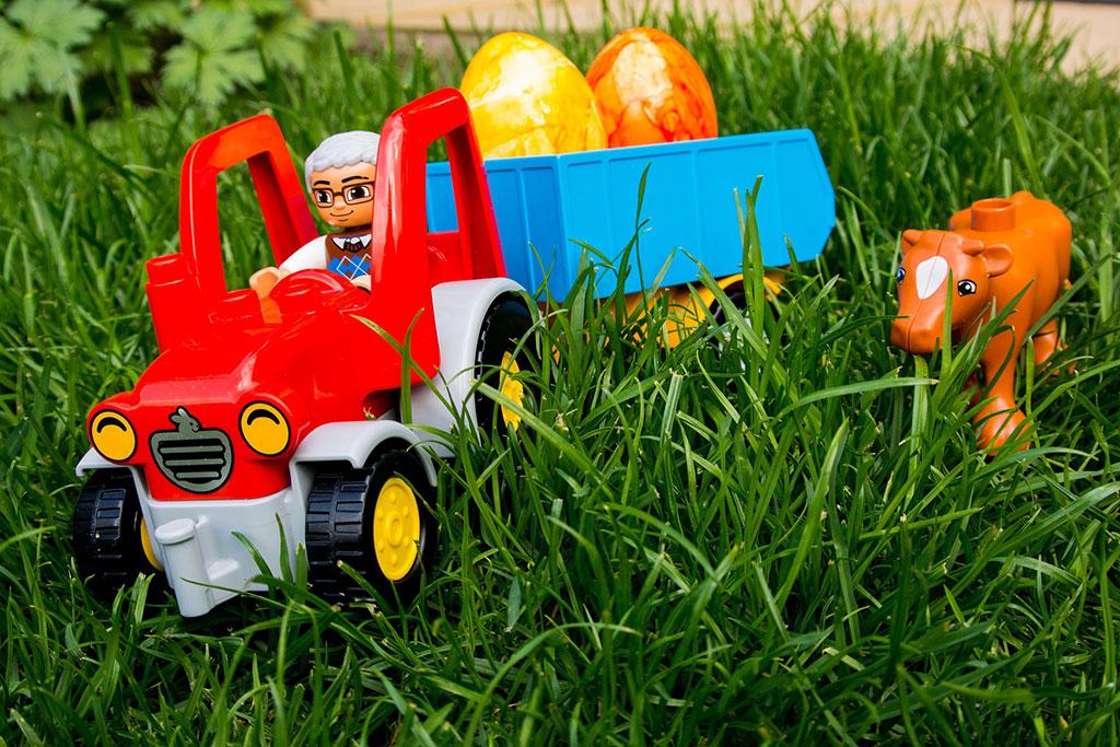 Foto juguete en jardín