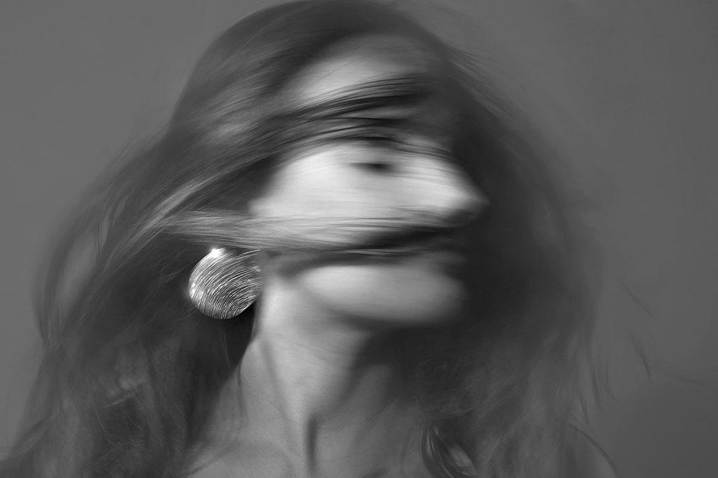 Foto retrato en movimiento
