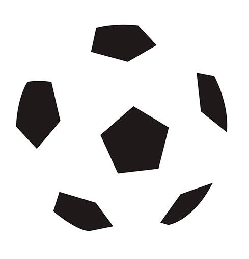 Gestalt principio de cierre, ejemplo balón