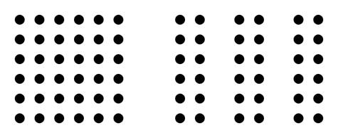 Gestalt principio Proximidad con puntos