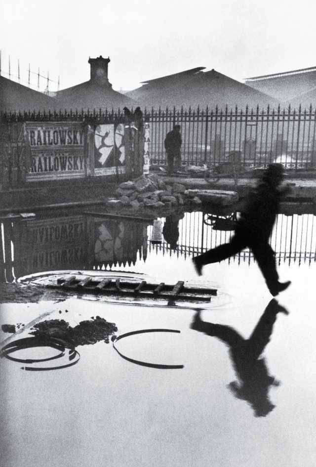 Cartier-Bresson: Plaza de Europa. Tras la estación de San Lázaro. París. Francia.