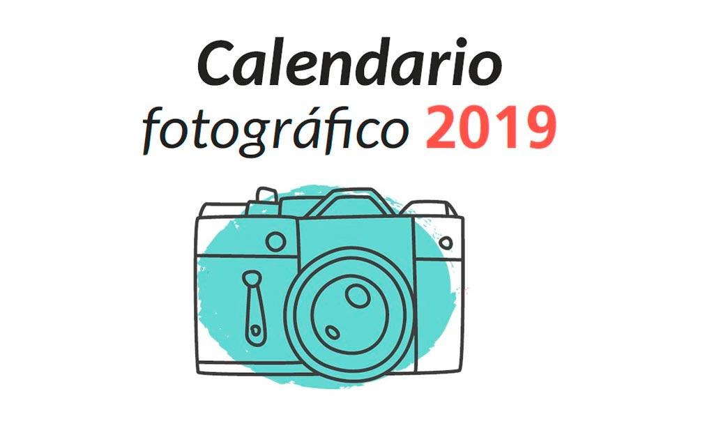 Ejercicios de fotografía, eventos, fotógrafos recomendados, ... : calendario fotográficos 2019