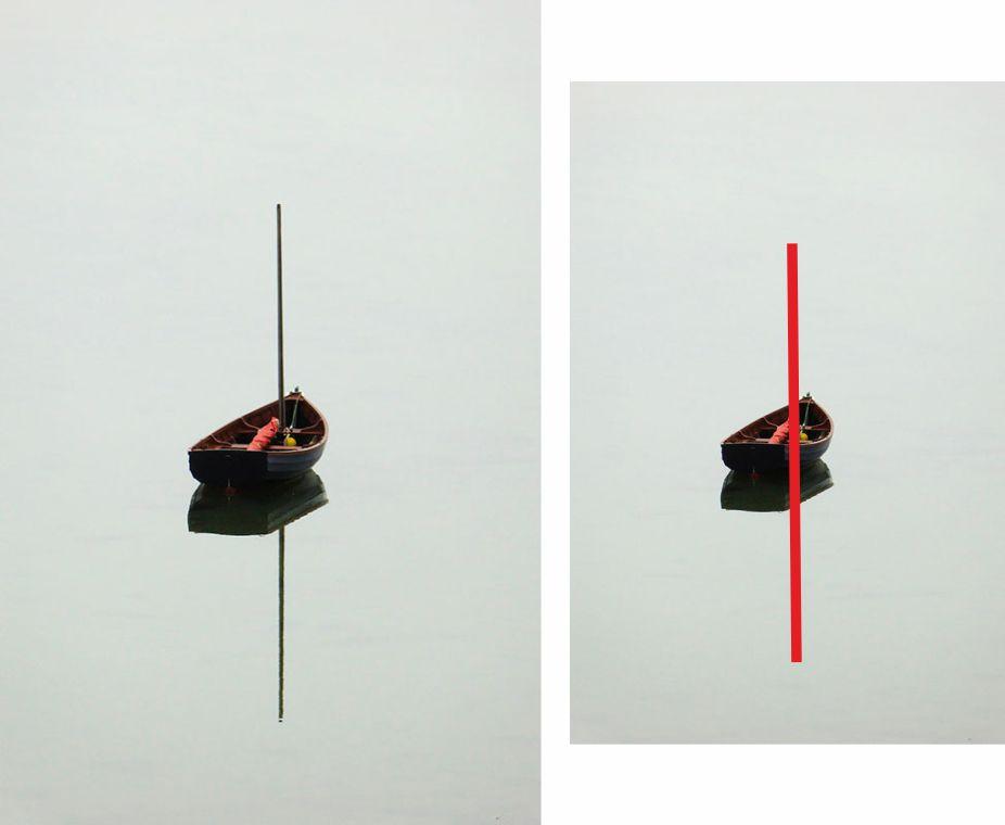 Fotografía barca, línea vertical