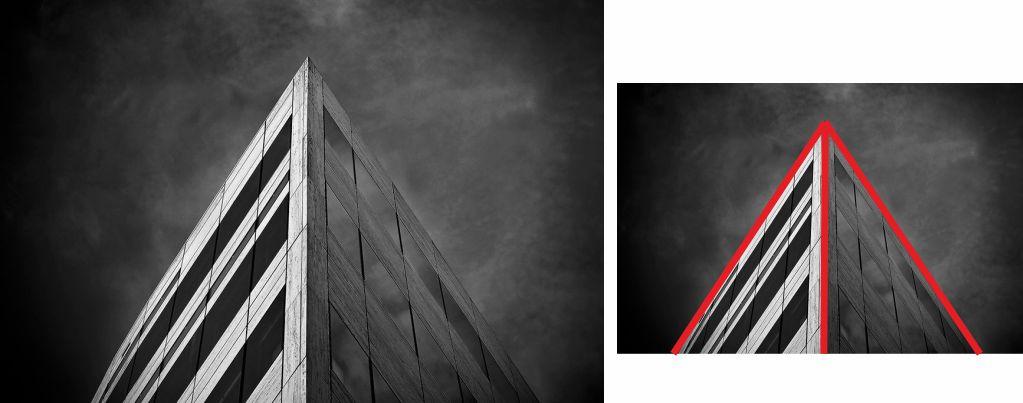 Fotografía de edificio con líneas rectas