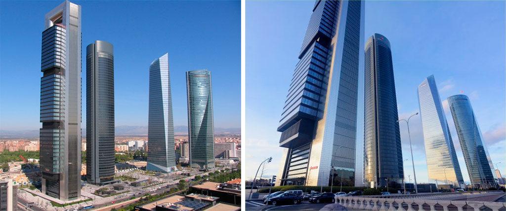 Fotografía Madrid 4 Torres Business Arena, diferencia focal angular y tele