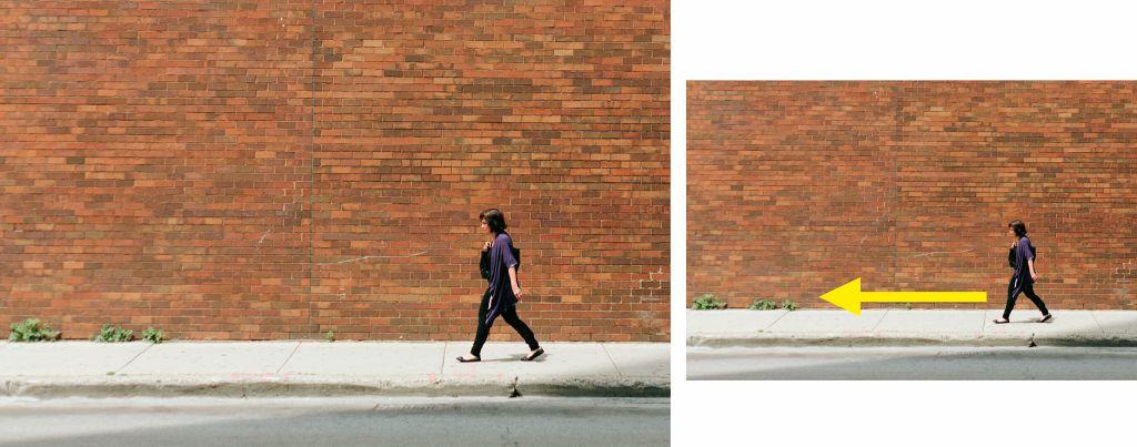 Fotografía movimiento de una persona