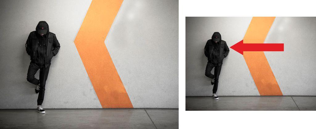 Fotografía con signos que crean líneas figuradas