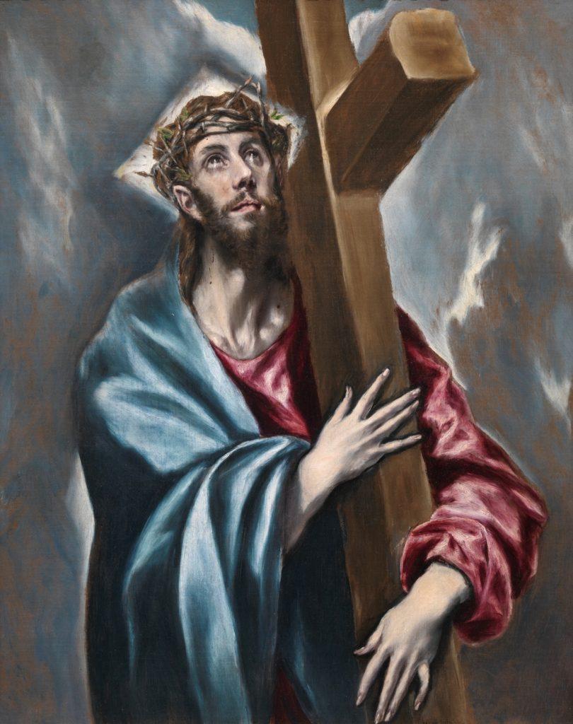 """Cuadro """"Cristo abrazado a la cruz"""", El Greco"""