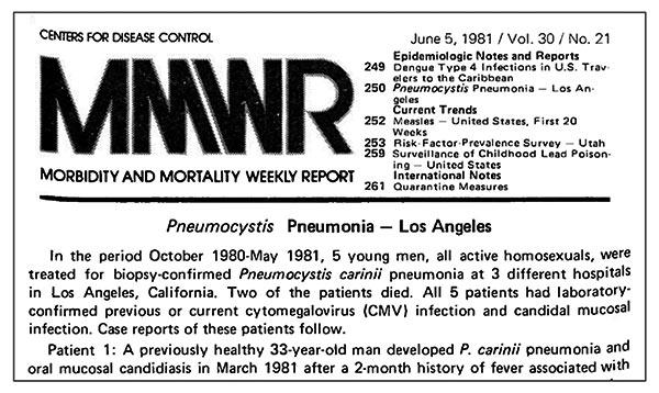 Nota prensa de los médicos en 1981 tras la aparición de los primeros casos