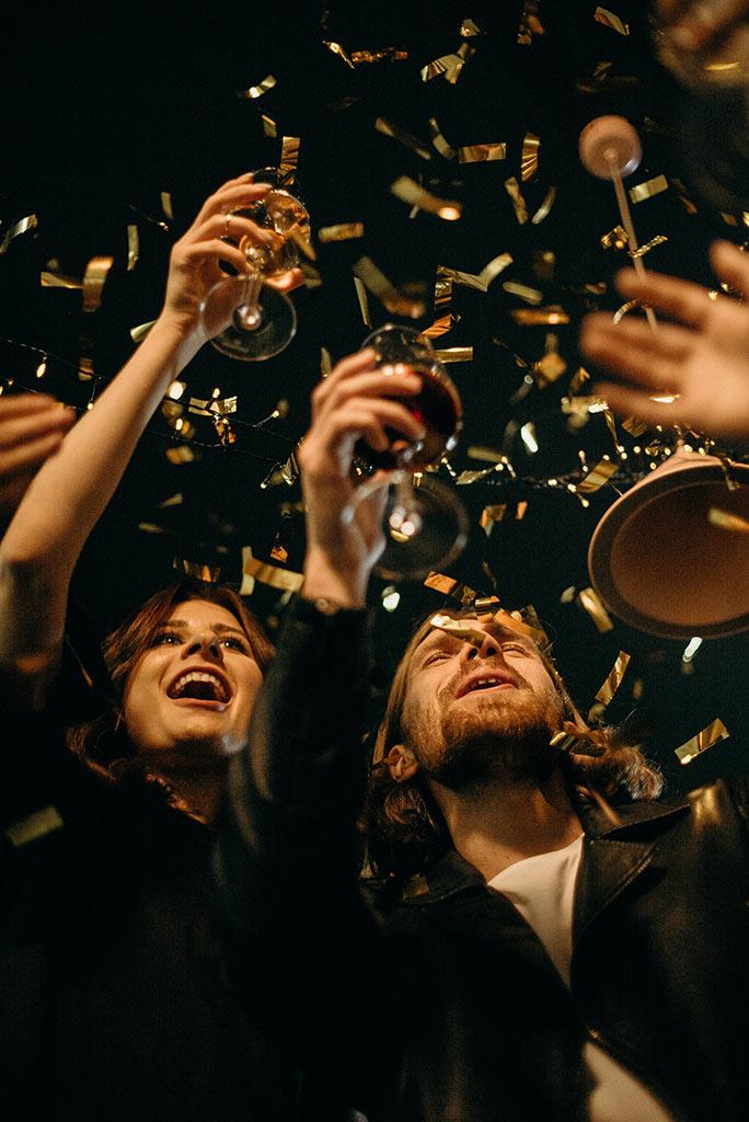 Foto celebración, brindis