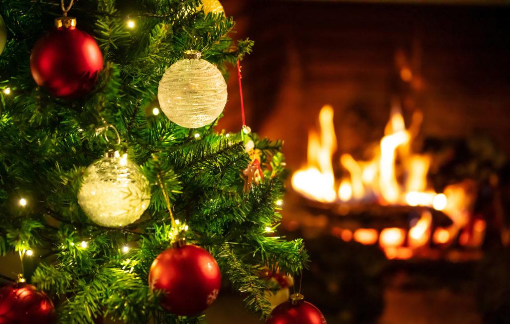 Escena navideña luz cálida