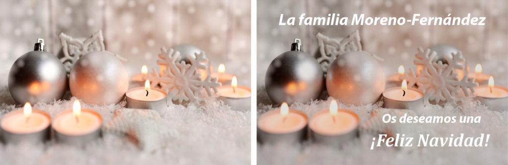 Foto bodegón para felicitar la navidad