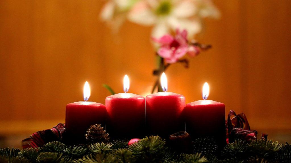 Foto velas en navidad